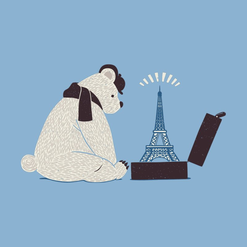 Traveler Tourist Eiffel Tower Bear Paris by Tobe Fonseca's Artist Shop