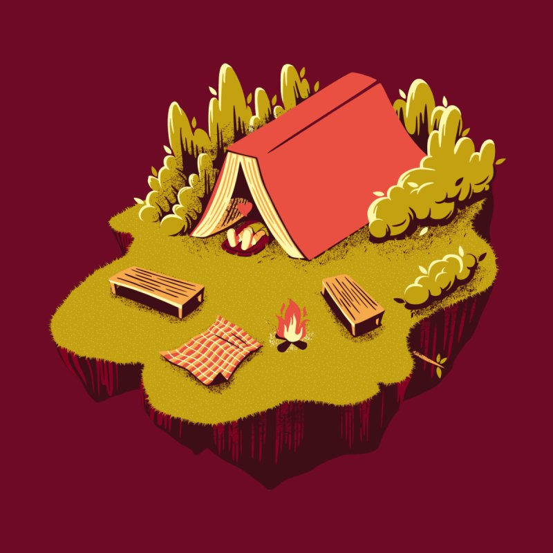 The Best Vacation Reading Book Camping by Tobe Fonseca's Artist Shop
