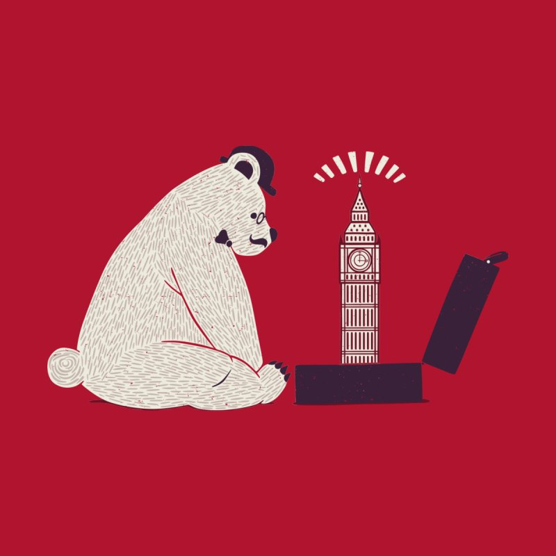 Traveler Tourist Big Ben Bear UK by Tobe Fonseca's Artist Shop