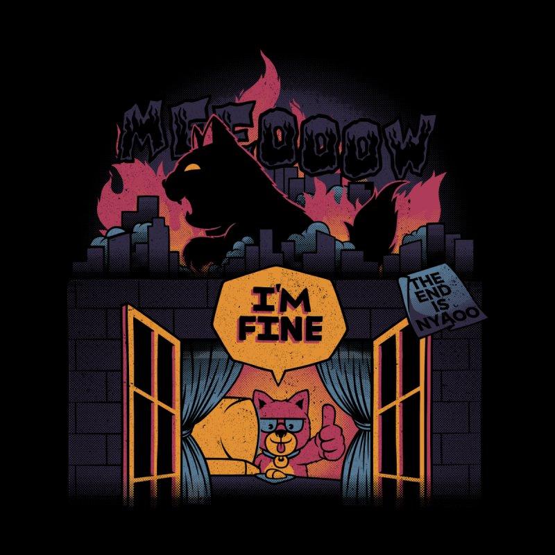 Lockdown Dog I'm Fine Home office Women's Pullover Hoody by Tobe Fonseca's Artist Shop