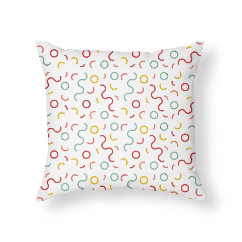 Funky DNA Home Throw Pillow by Tobe Fonseca's Artist Shop