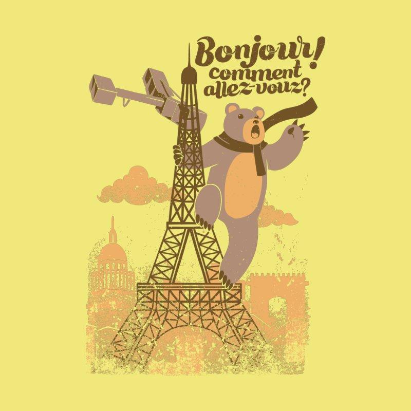 Paris King Kong Bear Eiffel Tower by Tobe Fonseca's Artist Shop