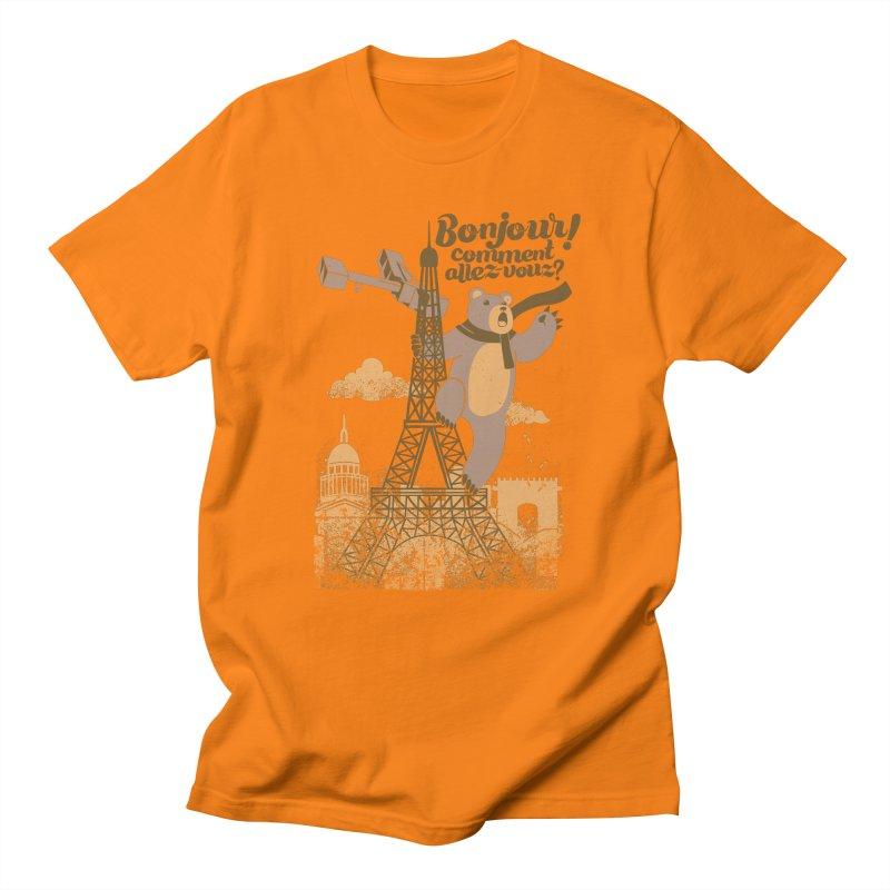Paris King Kong Bear Eiffel Tower Women's Unisex T-Shirt by Tobe Fonseca's Artist Shop