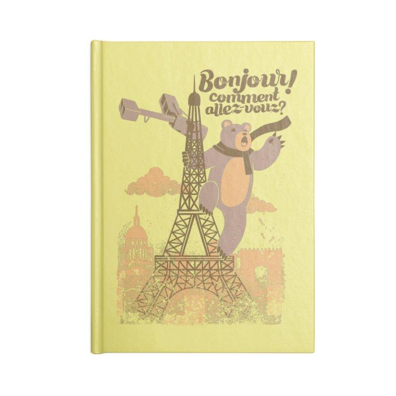 Paris King Kong Bear Eiffel Tower Accessories Notebook by Tobe Fonseca's Artist Shop