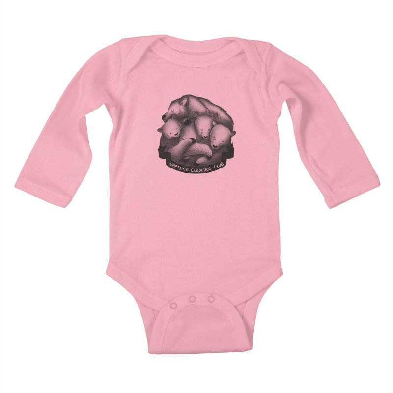 Naptime Cuddling Club Kids Baby Longsleeve Bodysuit by Tobe Fonseca's Artist Shop