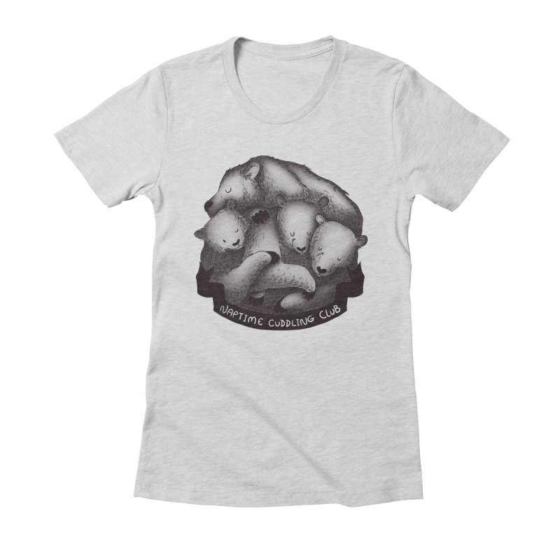 Naptime Cuddling Club Women's Fitted T-Shirt by Tobe Fonseca's Artist Shop