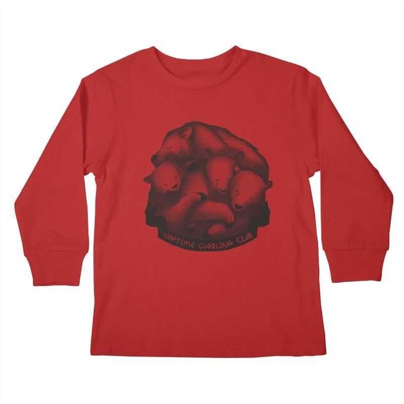 Naptime Cuddling Club Kids Longsleeve T-Shirt by Tobe Fonseca's Artist Shop