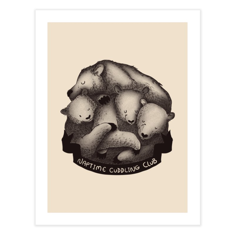 Naptime Cuddling Club Home Fine Art Print by Tobe Fonseca's Artist Shop