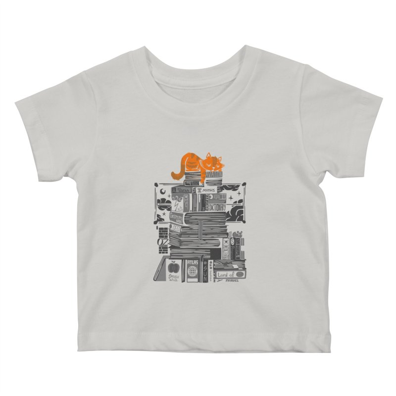 Sleeping on my threasure black and white Kids Baby T-Shirt by Tobe Fonseca's Artist Shop