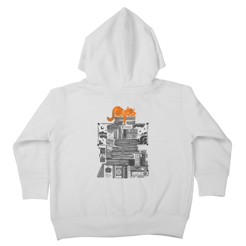 Sleeping on my threasure black and white Kids Toddler Zip-Up Hoody by Tobe Fonseca's Artist Shop