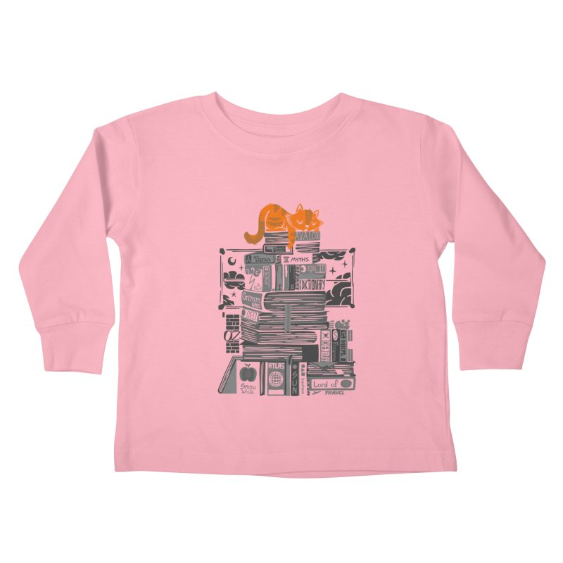 Sleeping on my threasure black and white Kids Toddler Longsleeve T-Shirt by Tobe Fonseca's Artist Shop