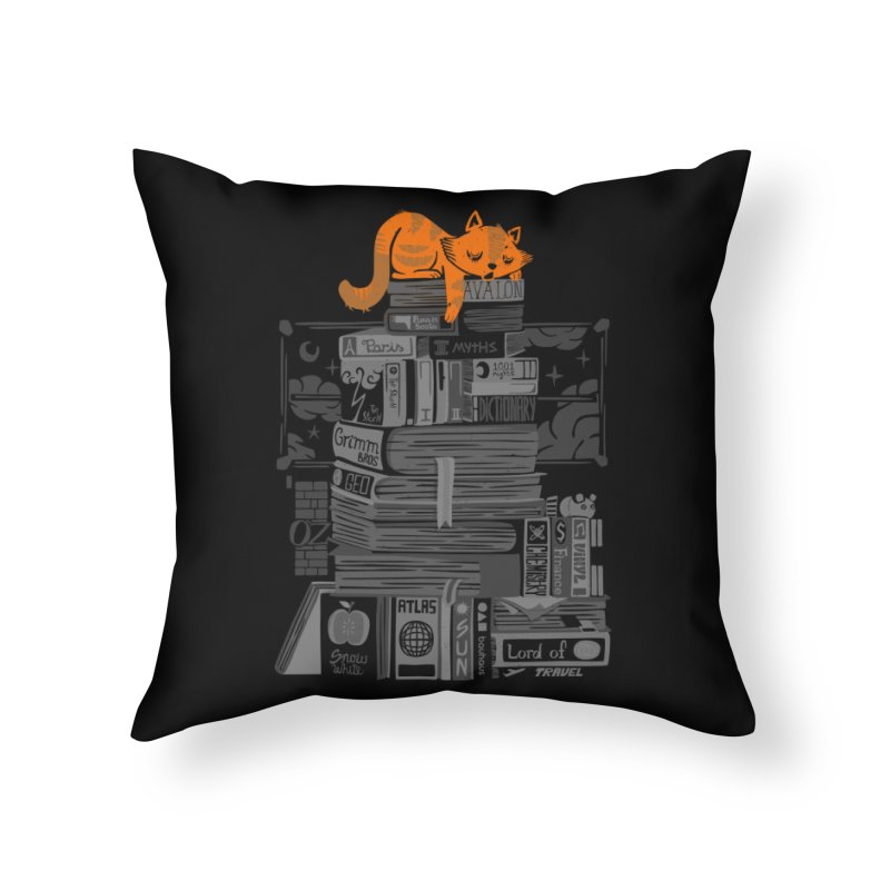 Sleeping on my threasure black and white Home Throw Pillow by Tobe Fonseca's Artist Shop