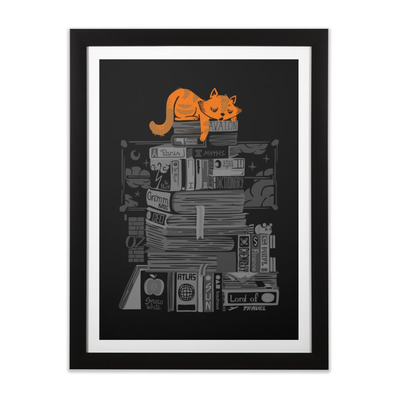 Sleeping on my threasure black and white Home Framed Fine Art Print by Tobe Fonseca's Artist Shop