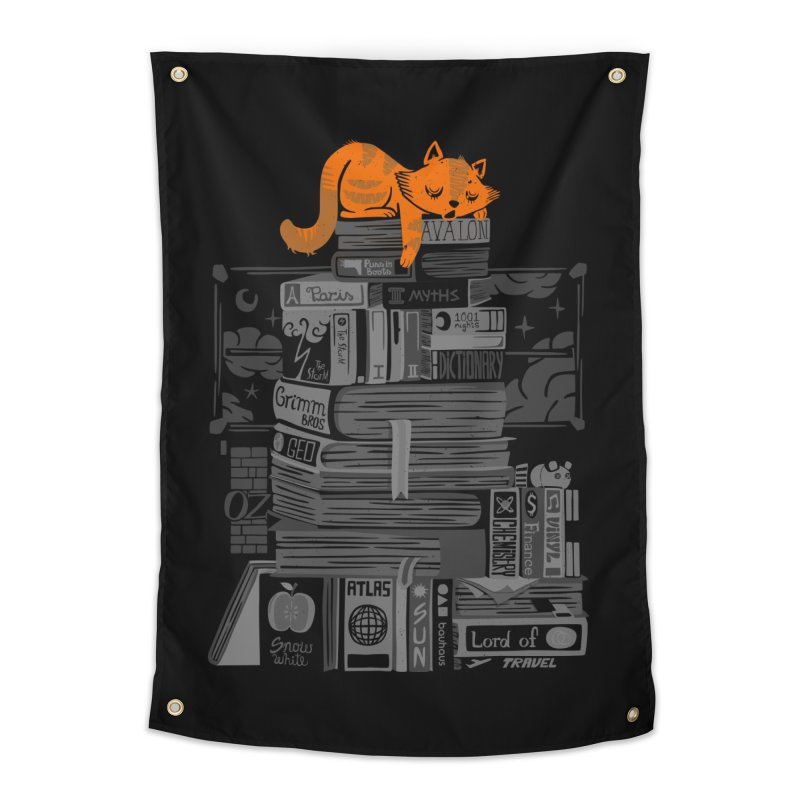Sleeping on my threasure black and white Home Tapestry by Tobe Fonseca's Artist Shop