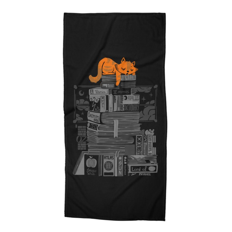 Sleeping on my threasure black and white Accessories Beach Towel by Tobe Fonseca's Artist Shop