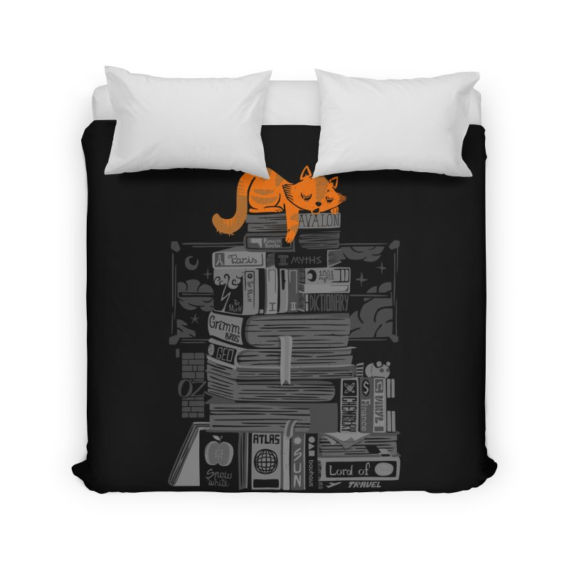 Sleeping on my threasure black and white Home Duvet by Tobe Fonseca's Artist Shop