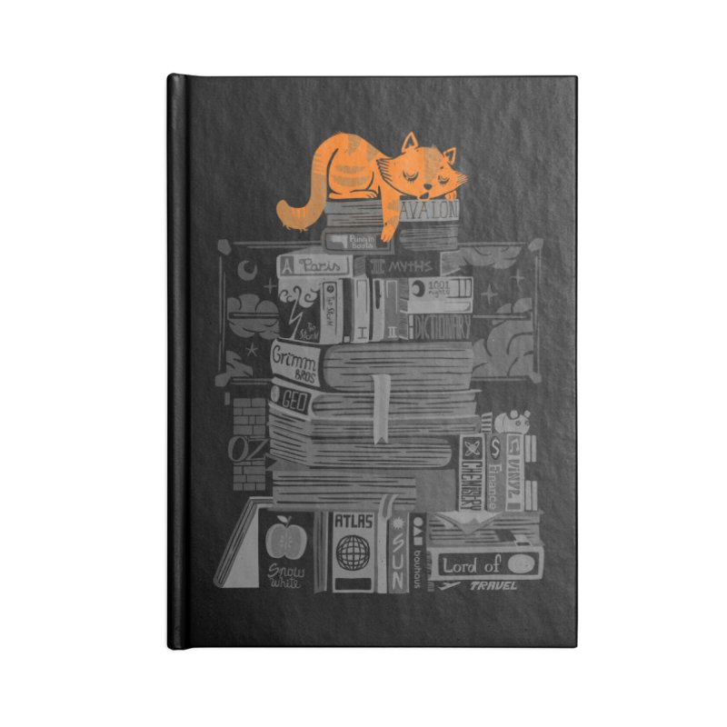 Sleeping on my threasure black and white Accessories Notebook by Tobe Fonseca's Artist Shop