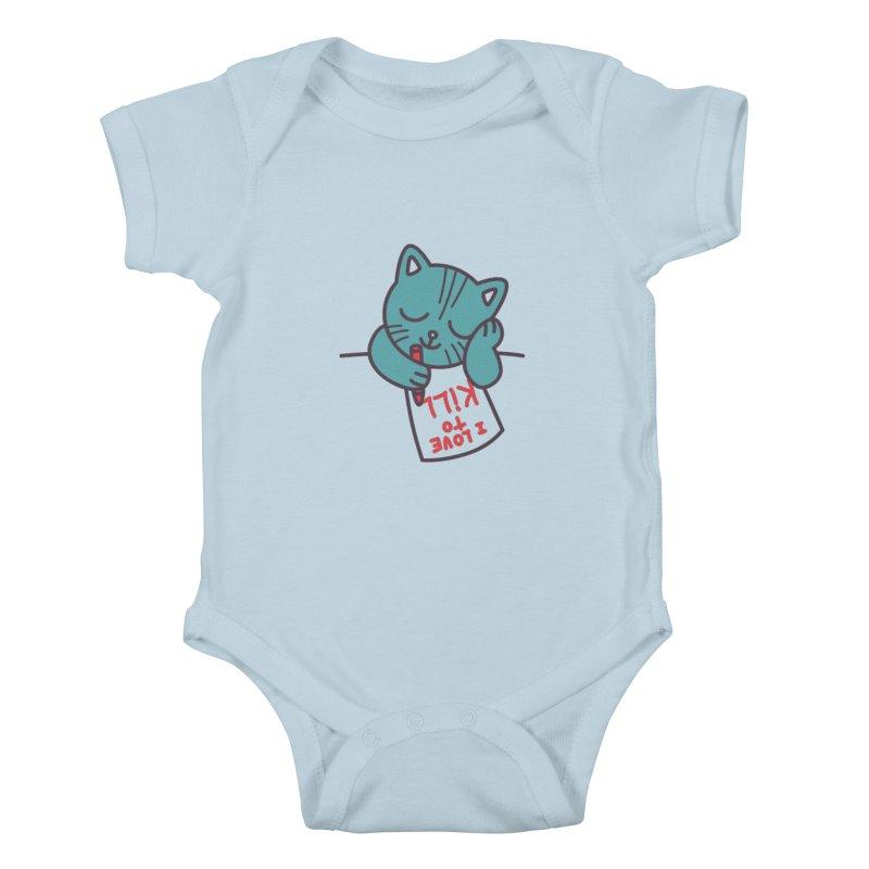I Love To Kill Cat Kids Baby Bodysuit by Tobe Fonseca's Artist Shop