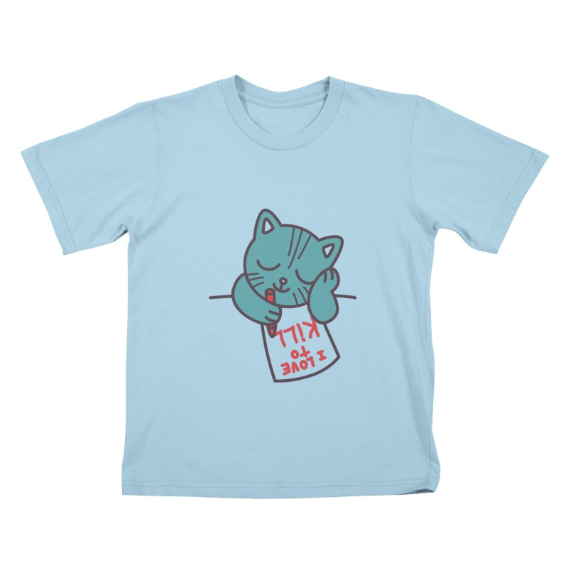 I Love To Kill Cat Kids T-shirt by Tobe Fonseca's Artist Shop