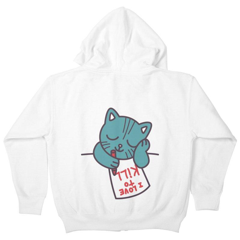 I Love To Kill Cat Kids Zip-Up Hoody by Tobe Fonseca's Artist Shop