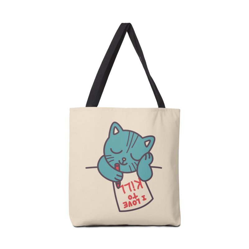 I Love To Kill Cat Accessories Bag by Tobe Fonseca's Artist Shop