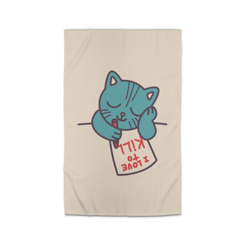 I Love To Kill Cat Home Rug by Tobe Fonseca's Artist Shop