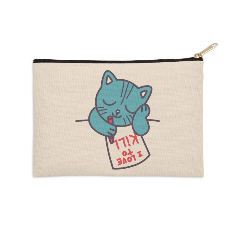 I Love To Kill Cat Accessories Zip Pouch by Tobe Fonseca's Artist Shop