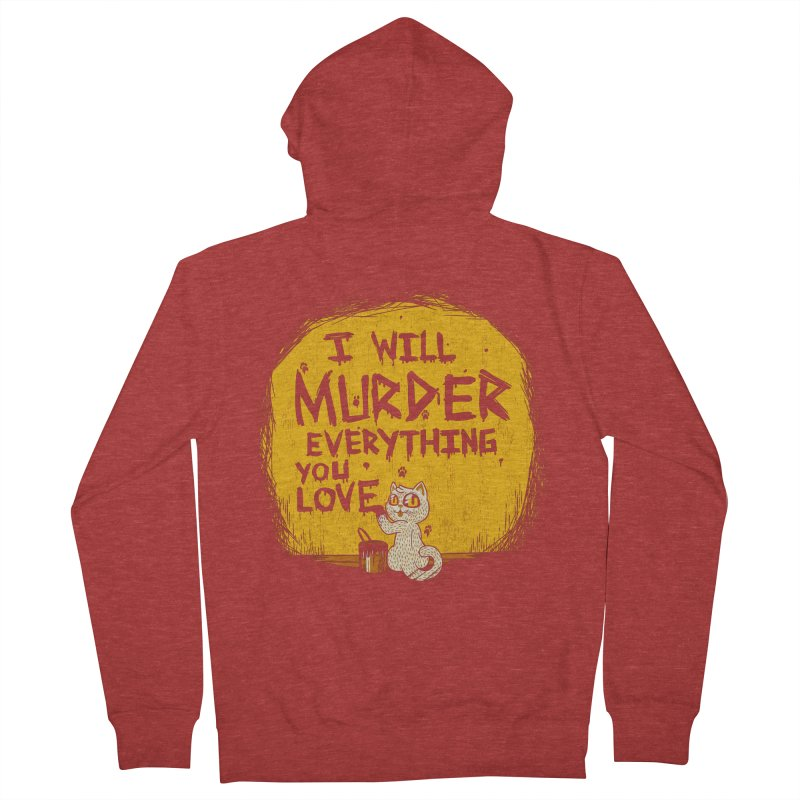 Ill Murder Everything You Love Cat Men's Zip-Up Hoody by Tobe Fonseca's Artist Shop