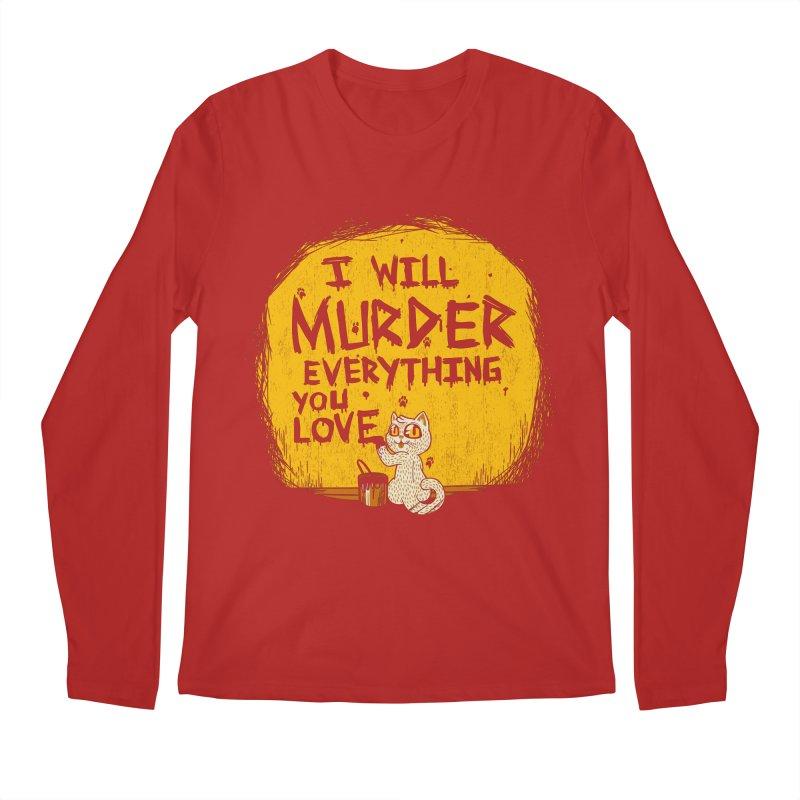 Ill Murder Everything You Love Cat Men's Longsleeve T-Shirt by Tobe Fonseca's Artist Shop