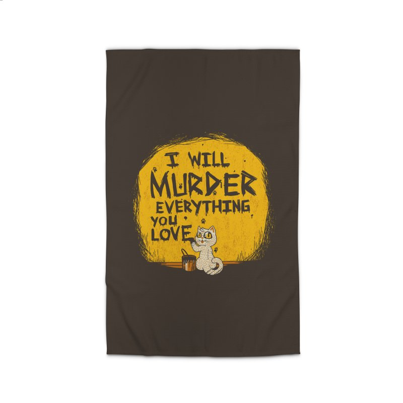 Ill Murder Everything You Love Cat Home Rug by Tobe Fonseca's Artist Shop