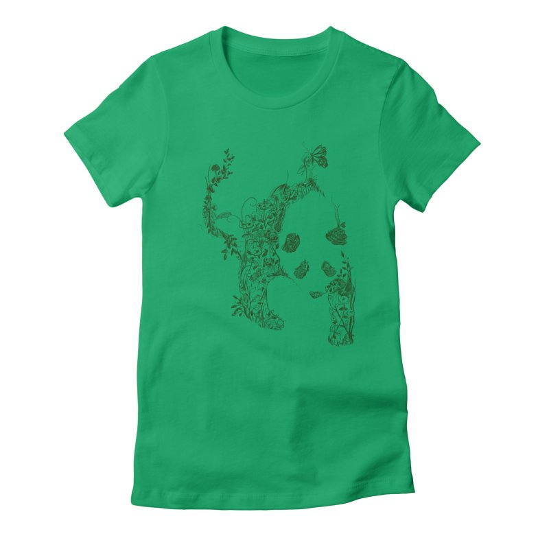 Sketch of Nature Women's Fitted T-Shirt by Tobe Fonseca's Artist Shop