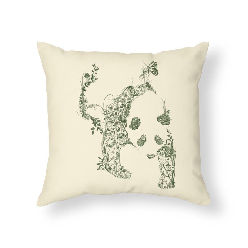 Sketch of Nature Home Throw Pillow by Tobe Fonseca's Artist Shop