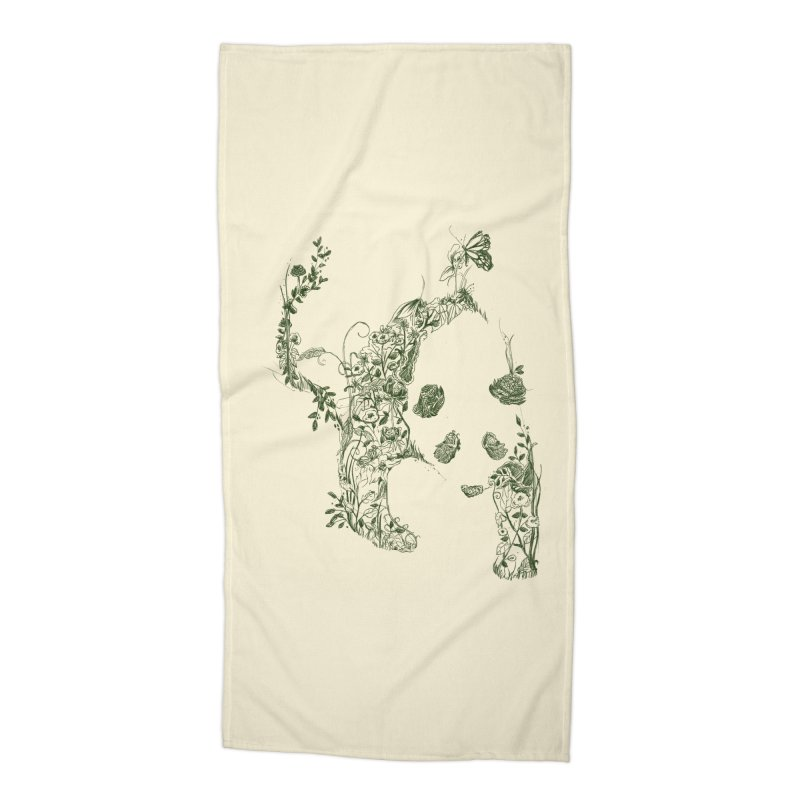 Sketch of Nature Accessories Beach Towel by Tobe Fonseca's Artist Shop
