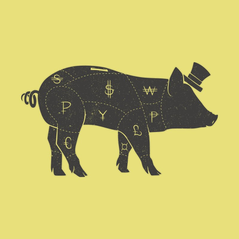 Piggy Bank None  by Tobe Fonseca's Artist Shop