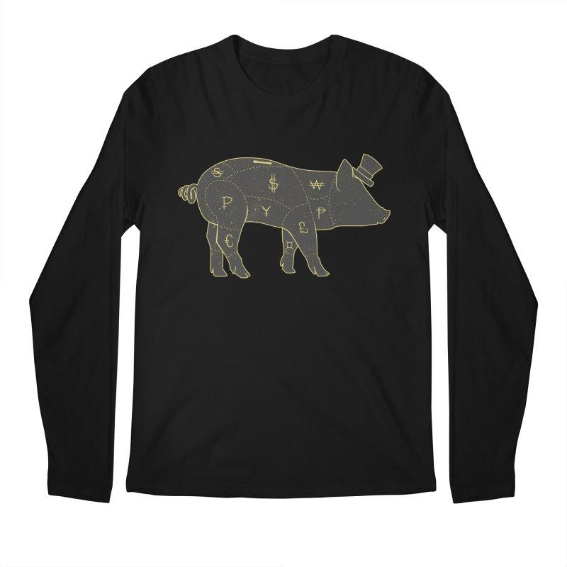 Piggy Bank Men's Longsleeve T-Shirt by Tobe Fonseca's Artist Shop