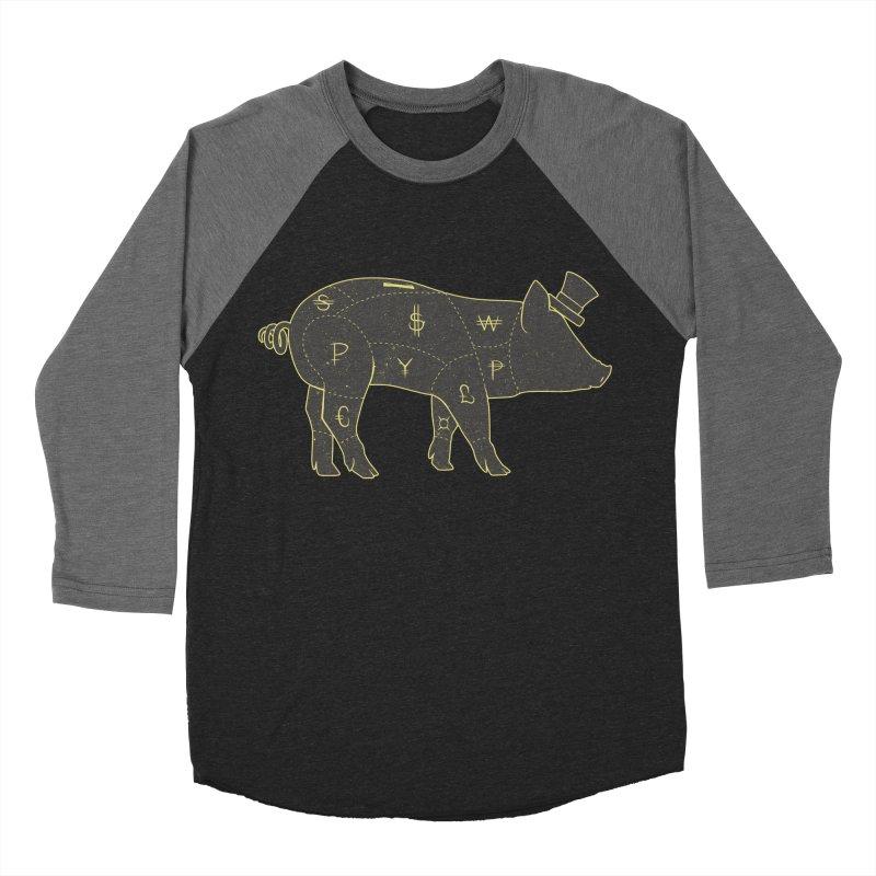 Piggy Bank Women's Baseball Triblend T-Shirt by Tobe Fonseca's Artist Shop