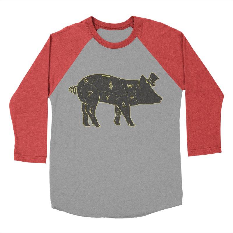 Piggy Bank Men's Baseball Triblend T-Shirt by Tobe Fonseca's Artist Shop