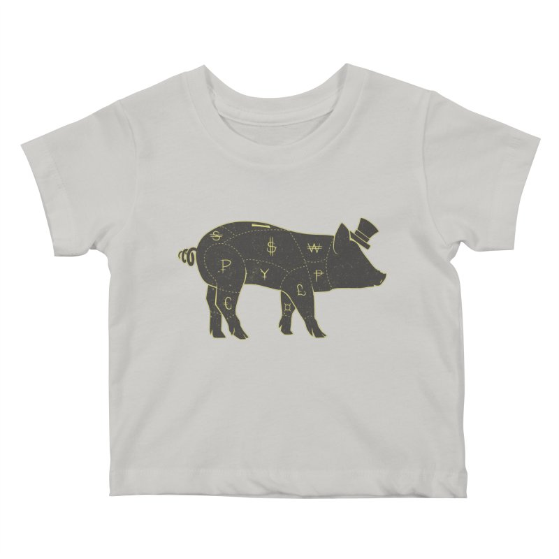 Piggy Bank Kids Baby T-Shirt by Tobe Fonseca's Artist Shop