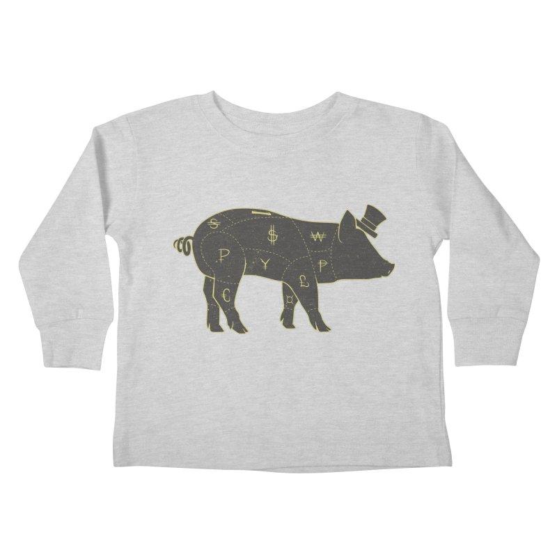 Piggy Bank Kids Toddler Longsleeve T-Shirt by Tobe Fonseca's Artist Shop