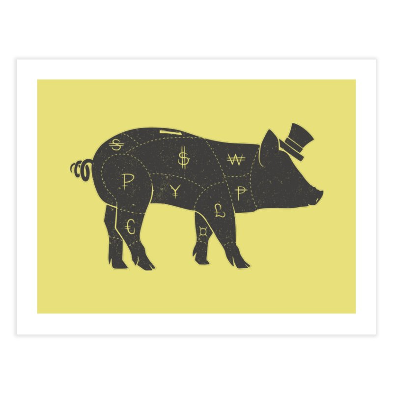 Piggy Bank Home Fine Art Print by Tobe Fonseca's Artist Shop