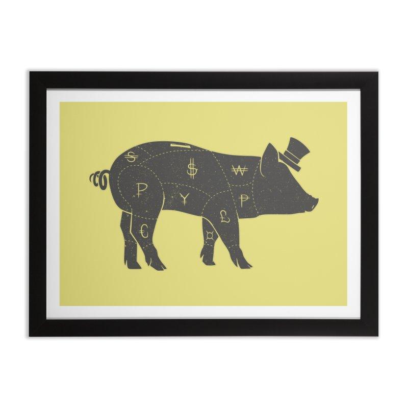 Piggy Bank Home Framed Fine Art Print by Tobe Fonseca's Artist Shop