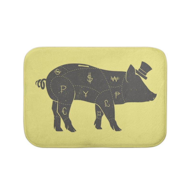 Piggy Bank Home Bath Mat by Tobe Fonseca's Artist Shop