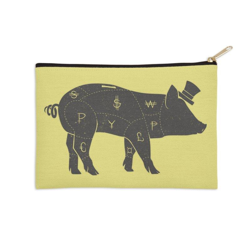 Piggy Bank Accessories Zip Pouch by Tobe Fonseca's Artist Shop