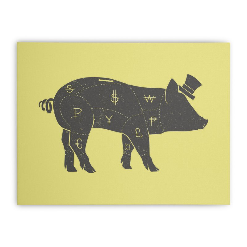 Piggy Bank Home Stretched Canvas by Tobe Fonseca's Artist Shop
