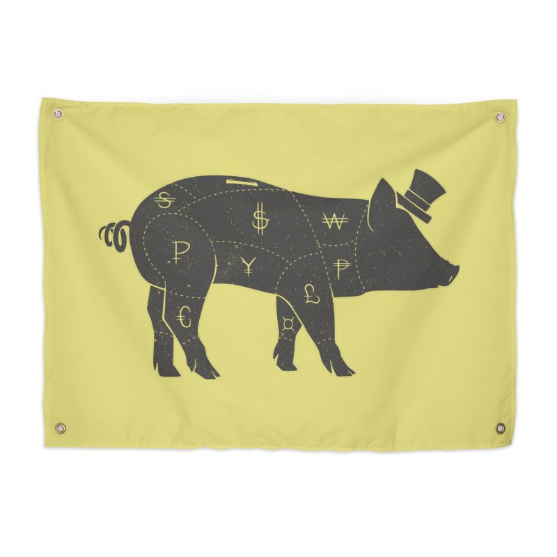 Piggy Bank Home Tapestry by Tobe Fonseca's Artist Shop