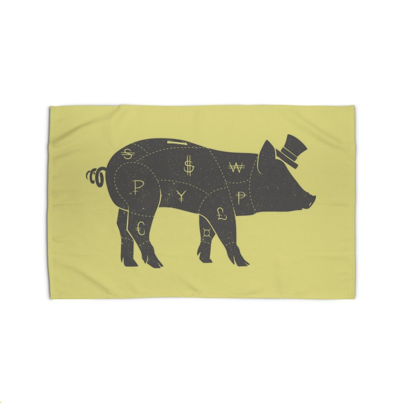 Piggy Bank Home Rug by Tobe Fonseca's Artist Shop