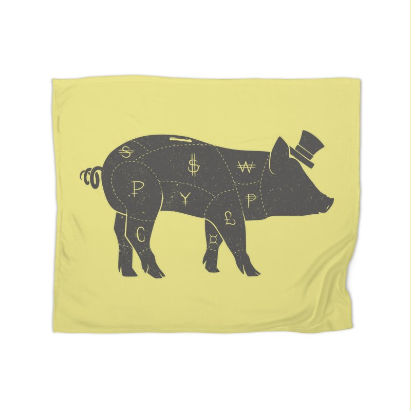 Piggy Bank Home Blanket by Tobe Fonseca's Artist Shop