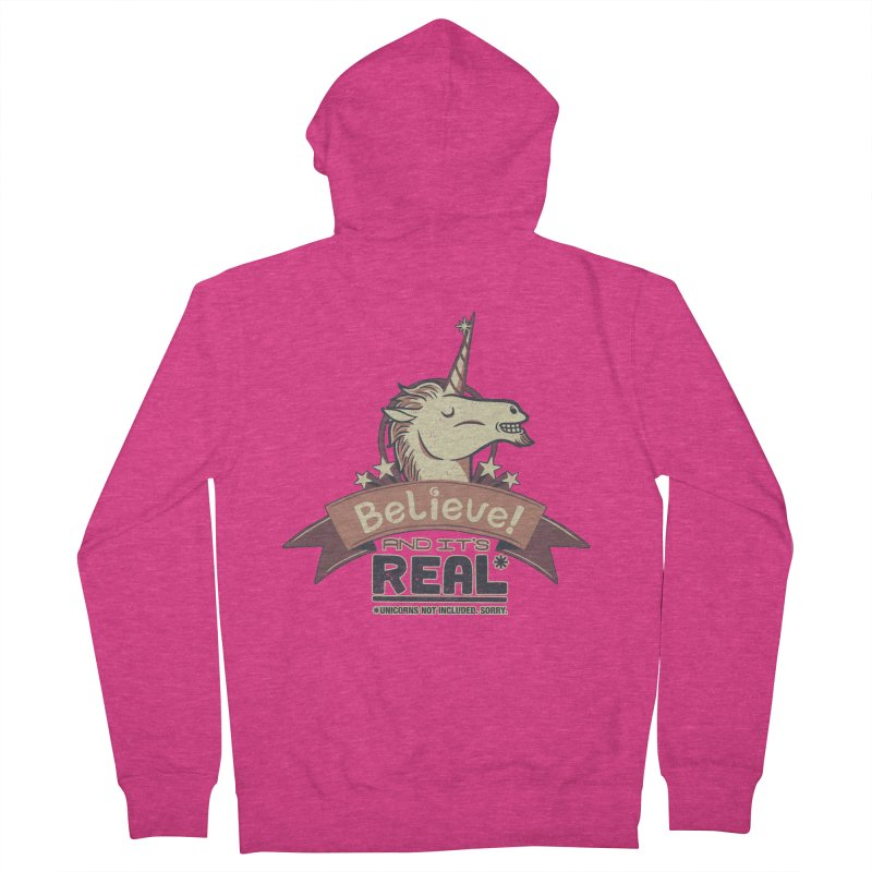 Unicorn Believe And Its Real Women's Zip-Up Hoody by Tobe Fonseca's Artist Shop