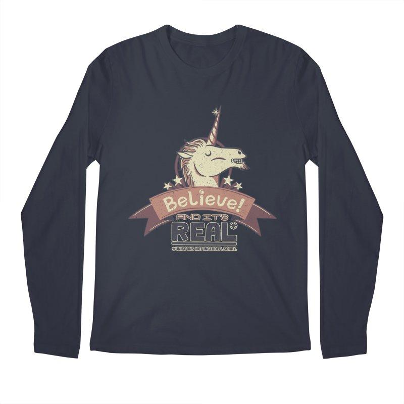 Unicorn Believe And Its Real Men's Longsleeve T-Shirt by Tobe Fonseca's Artist Shop