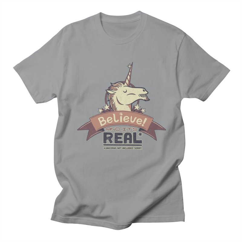 Unicorn Believe And Its Real Men's T-shirt by Tobe Fonseca's Artist Shop